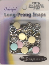 Snap Size 18 Fasteners Capped Prong Pearl Green Color 10 Sets